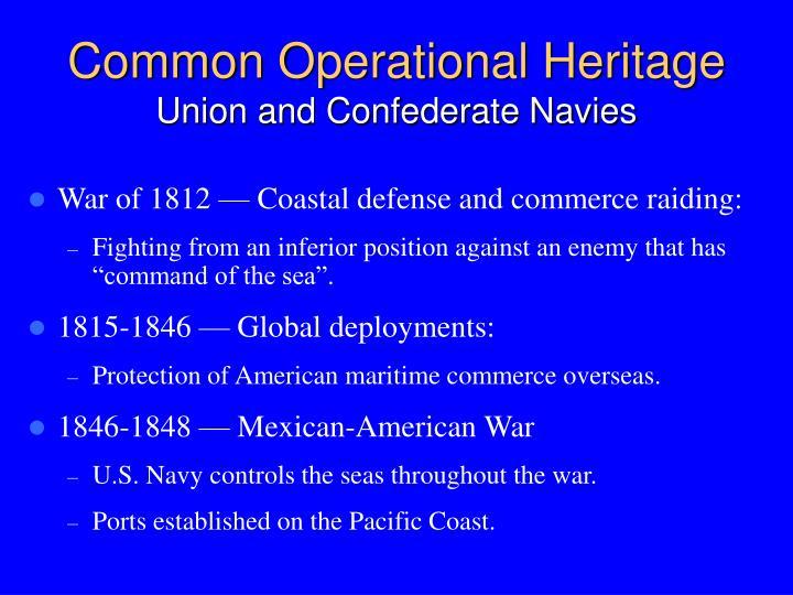 Common Operational Heritage
