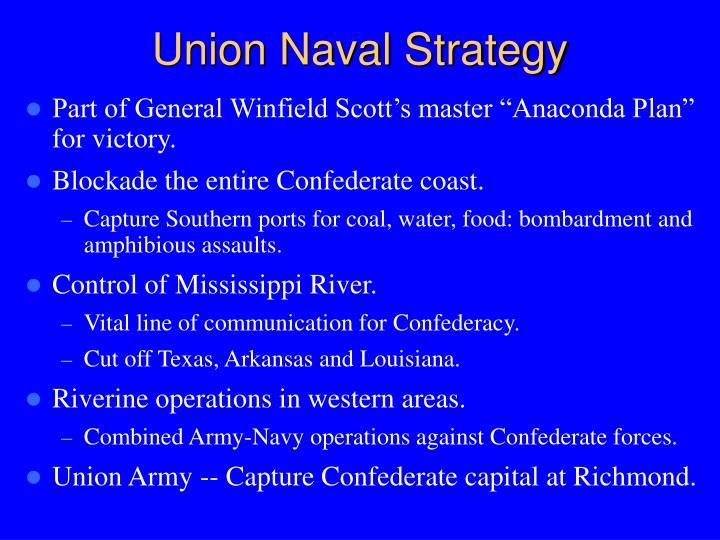 Union Naval Strategy