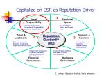 capitalize on csr as reputation driver