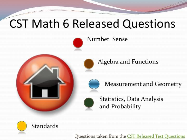cst math 6 released questions n.
