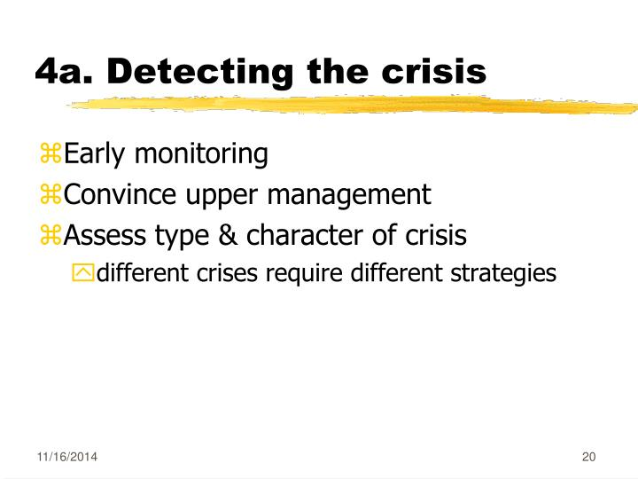 4a. Detecting the crisis