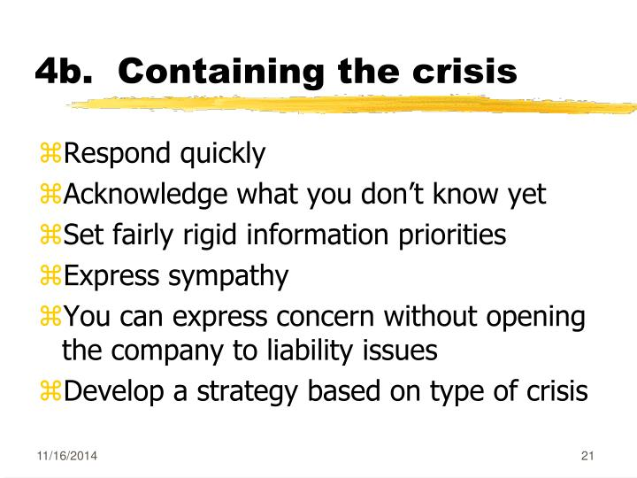 4b.  Containing the crisis