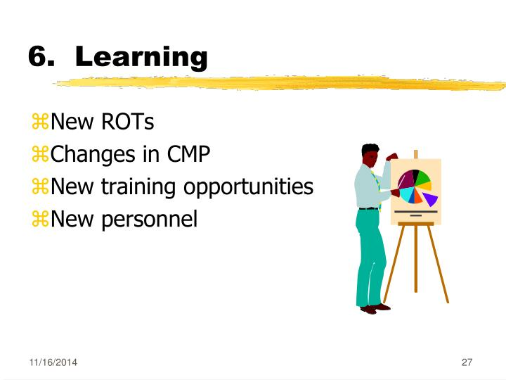 6.  Learning