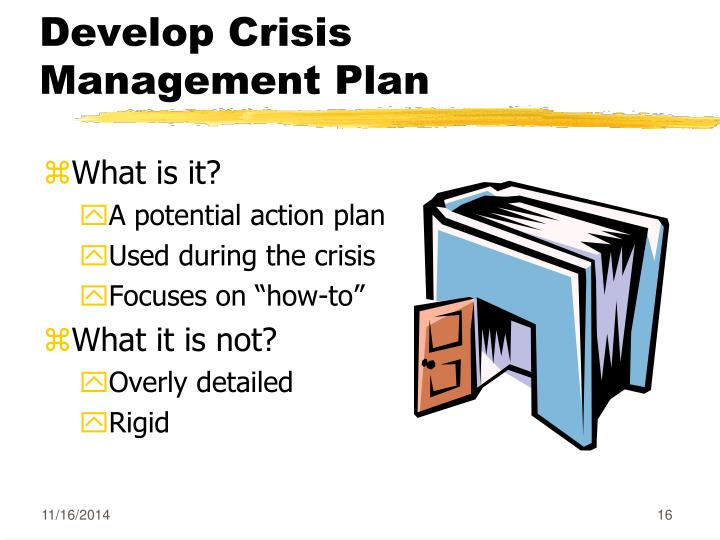 Develop Crisis Management Plan
