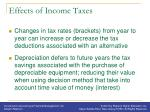 effects of income taxes1