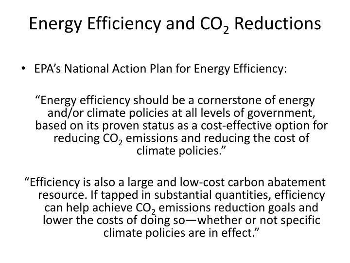Energy efficiency and co 2 reductions1