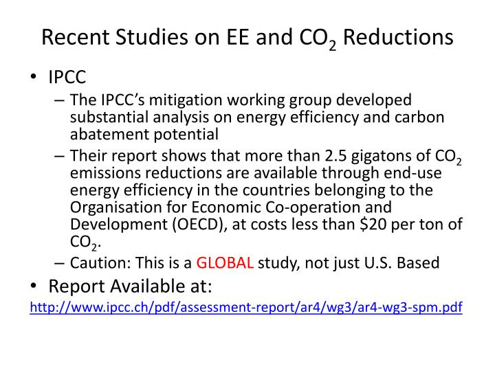 Recent Studies on EE and CO