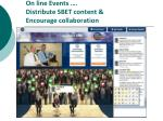 on line events distribute sbet content encourage collaboration
