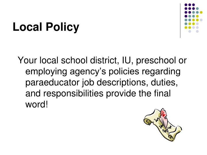 Local policy