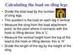calculating the load on sling legs