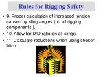 rules for rigging safety2