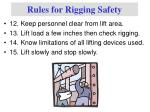 rules for rigging safety3