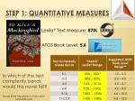step 1 quantitative measures