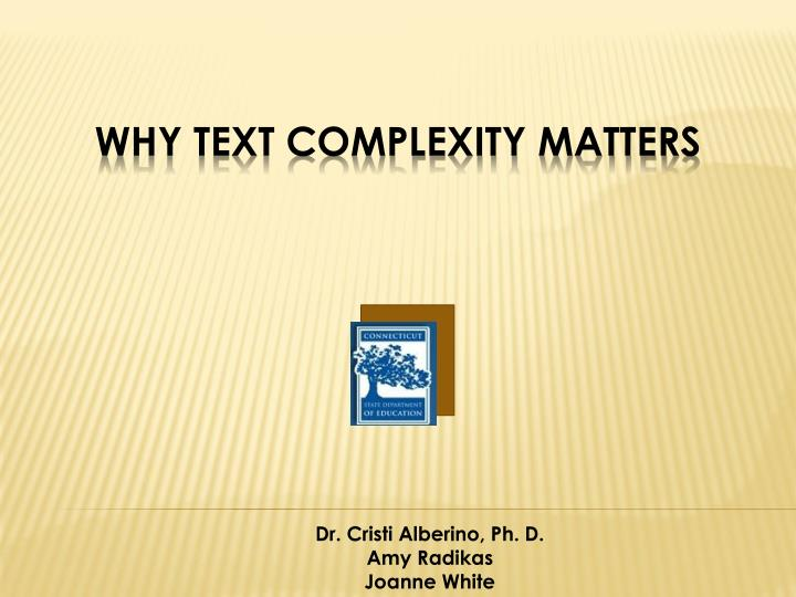 why text complexity matters n.