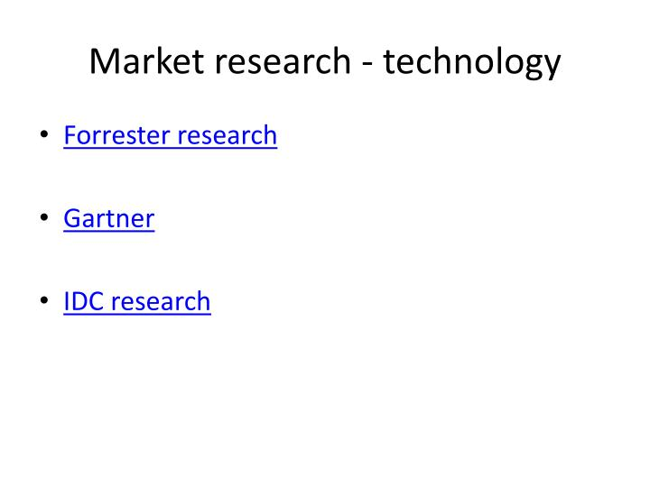 Market research - technology