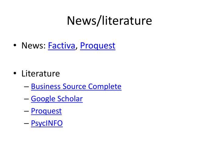 News/literature