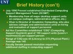brief history con t