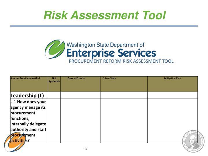 Risk Assessment Tool