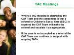 tac meetings