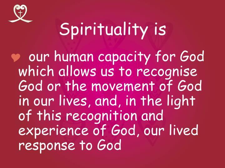 Spirituality is