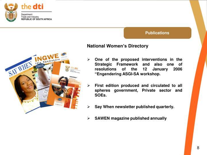 National Women's Directory