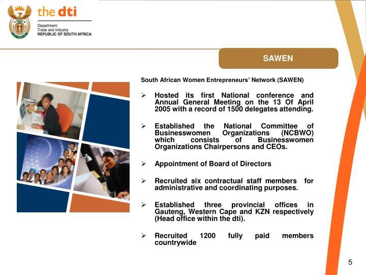 South African Women Entrepreneurs' Network (SAWEN)