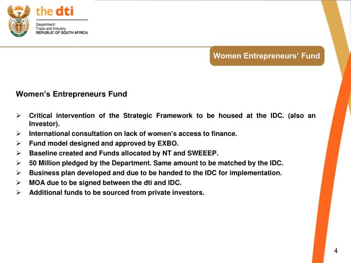 Women Entrepreneurs' Fund