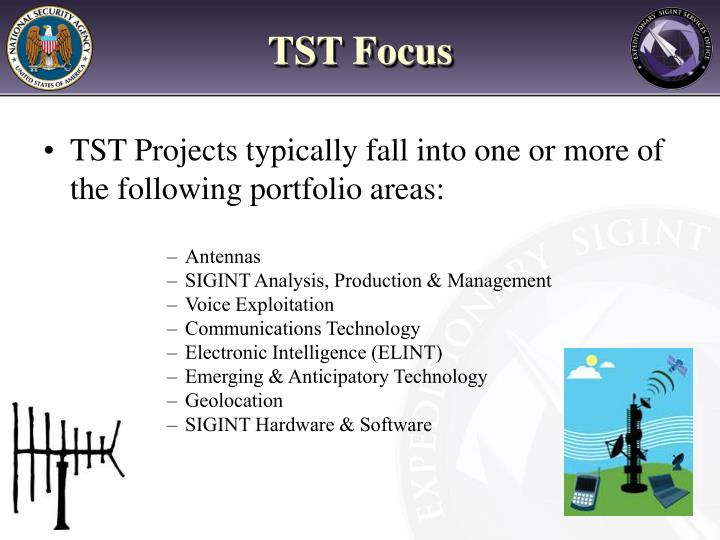 TST Projects typically fall into one or more of the following portfolio areas: