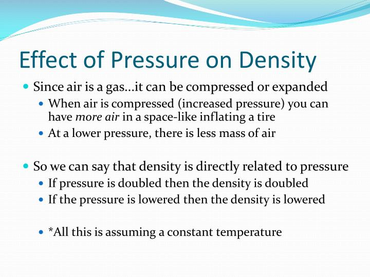 Effect of Pressure on Density
