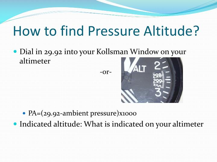 How to find Pressure Altitude?