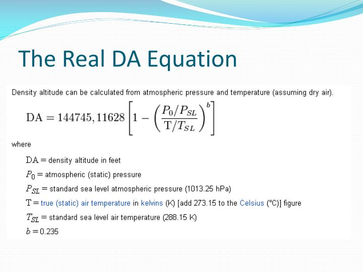 The Real DA Equation