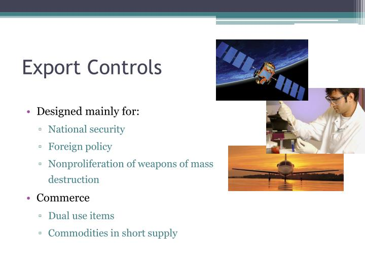 PPT - Executive Summary: Export Controls (Commercial ...