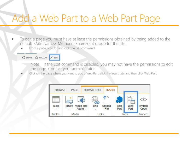 Add a Web Part to a Web Part Page