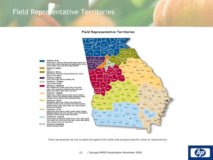 Field Representative Territories