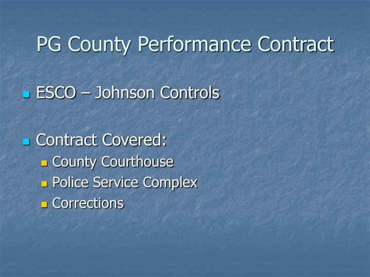 PG County Performance Contract