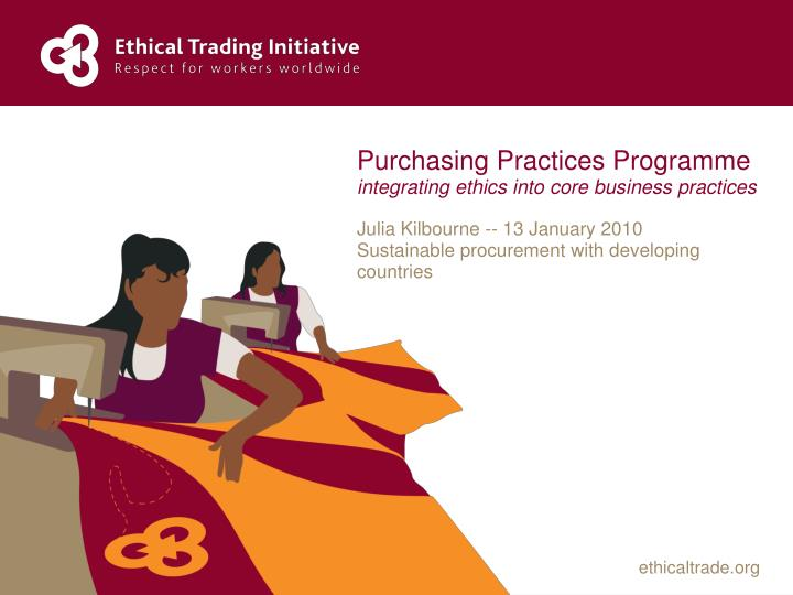 purchasing ethics The hawaii state ethics commission is available to provide guidance to procurement and purchasing personnel and can be reached at (808)587-0460 or ethics@hawaiiethicsorg please refer to the state ethics code – a quick guide on gifts.