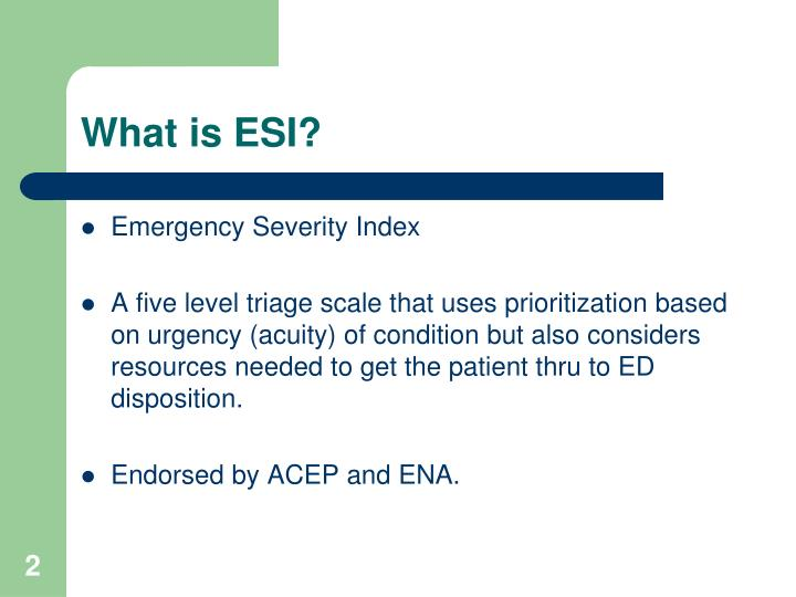 What is esi