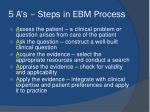 5 a s steps in ebm process