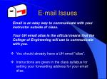 e mail issues