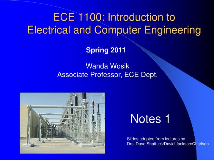ece 1100 introduction to electrical and computer engineering