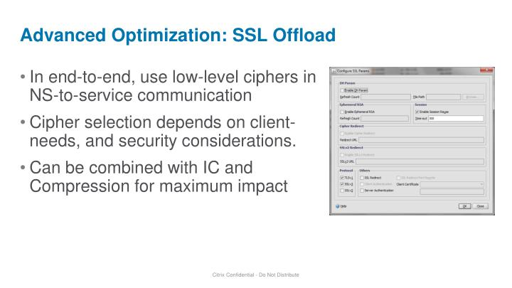 Advanced Optimization: SSL Offload