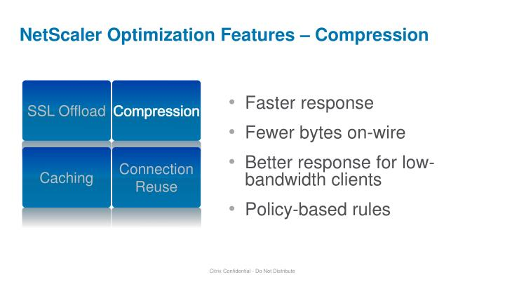 NetScaler Optimization Features – Compression