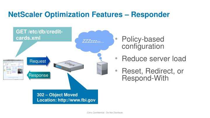 NetScaler Optimization Features – Responder