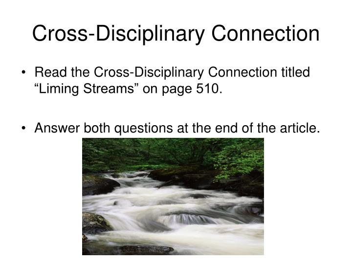 Cross-Disciplinary Connection
