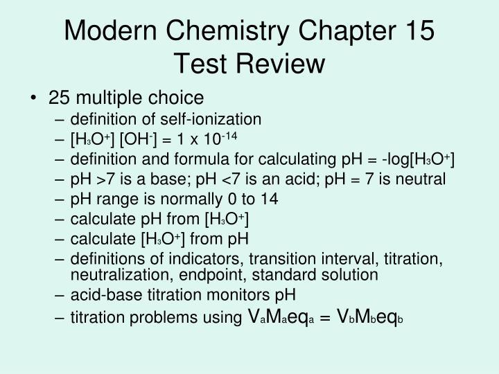 Modern Chemistry Chapter 15
