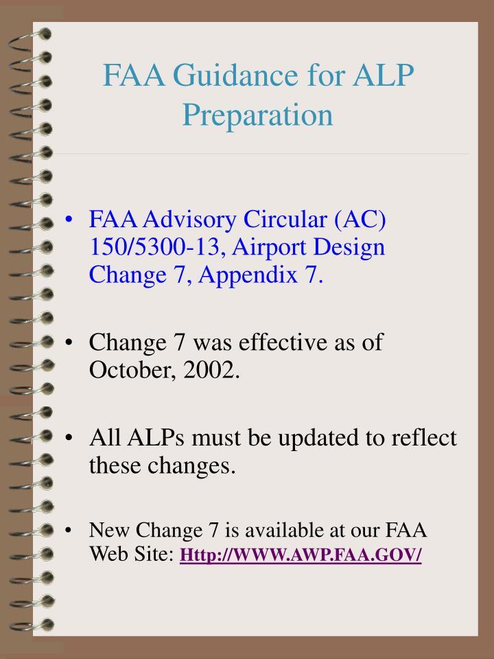 FAA Guidance for ALP Preparation