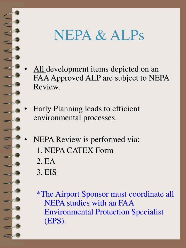 NEPA & ALPs