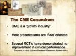the cme conundrum