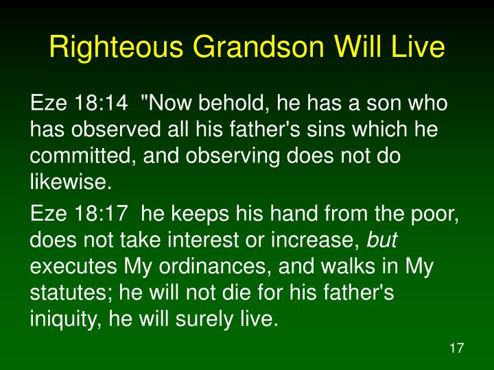 Righteous Grandson Will Live