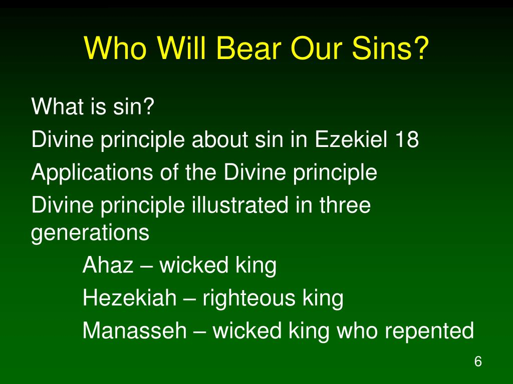 PPT - Who Will Bear Our Sins? PowerPoint Presentation - ID